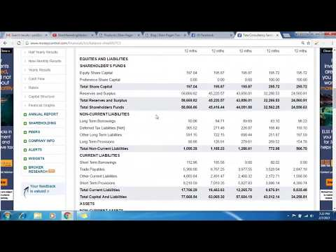 Balance Sheet & Profit loss statement