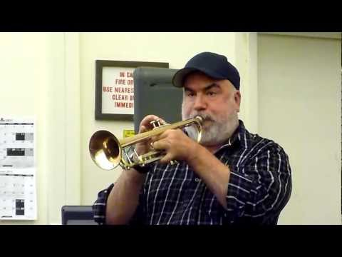 Randy Brecker clinic on swinging and Bop phrasing articulation.MTS