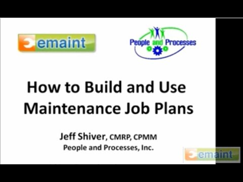 How To Build and Use Maintenance Job Plans - eMaint CMMS