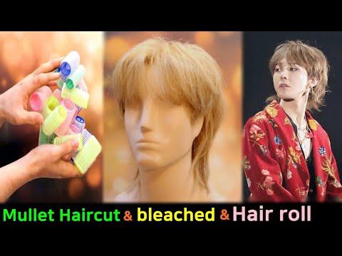 kpop-g-dragon-mullet-haircut-&-bleach-&-hair-rollers