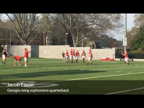 WATCH: Georgia QBs Jacob Eason, Jake Fromm during first 2017 spring practice