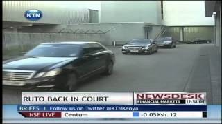 Deputy President William Ruto back in court at the ICC