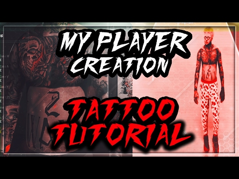 PLAYER CREATION AND TATTOO TUTORIAL !! | MAKE YOUR MYPLAYER LOOK CLEAN !! | SWAG 👌💯 | NBA 2K17