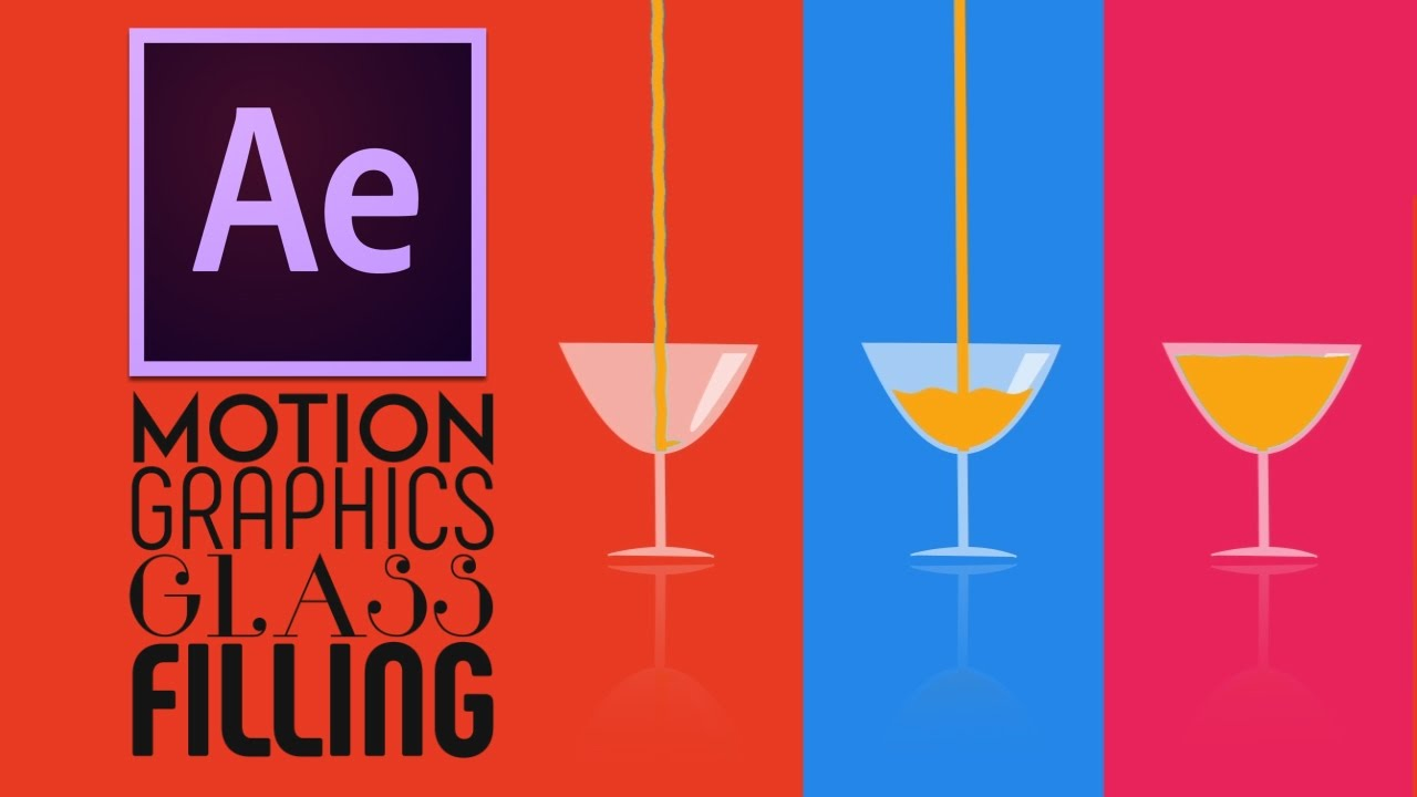 After Effects Tutorial:Motion Graphics Glass Filling ...