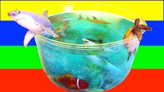 DIY SHARK Toys Slime Aquarium Fish Tank: Toy Sharks, Sea Animals, Toys and Slime | Craft Videos