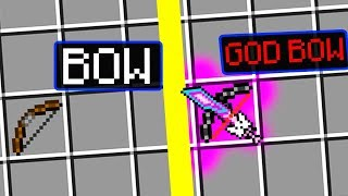 How to do GOD BOW in Minecraft? Noob vs Pro Battle how to craft