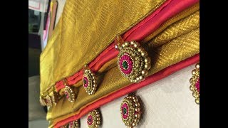 Latest Designer saree tassels collections/Saree Kuchu Designs