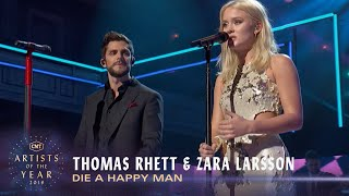 Gambar cover Thomas Rhett & Zara Larsson Perform 'Die A Happy Man' (2016) | CMT