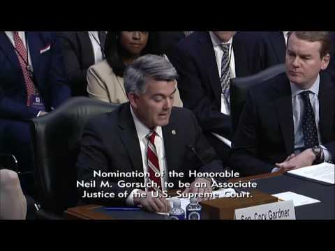 Sen. Gardner Introduces Judge Gorsuch at Nomination Hearing