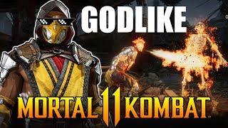 Mortal Kombat 11 - Scorpion Combos are GODLIKE! Online Beta Matches!