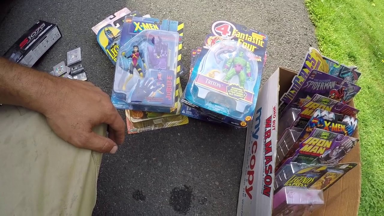 Going through my yard sales buys then taking the kids to the farmers market  good toys and treasures