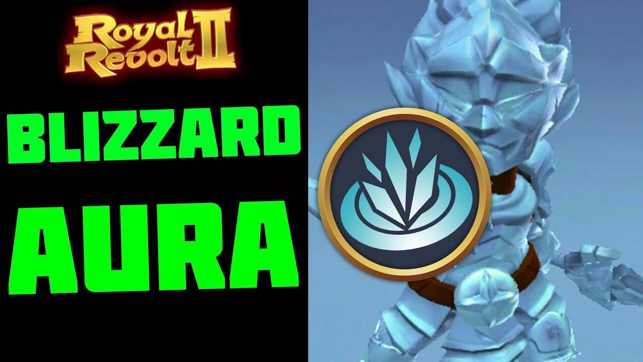 ROYAL REVOLT 2 - BLIZZARD AURA Test & Gameplay