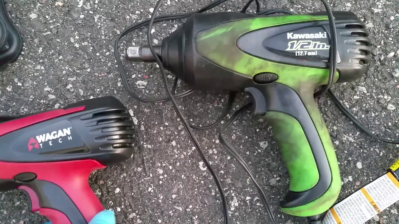 Review Wagan 12 Volt Mighty Impact Wrench Vs Kawasaki
