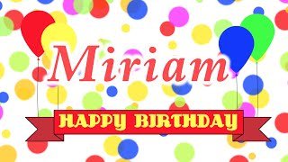 Happy Birthday Miriam Song