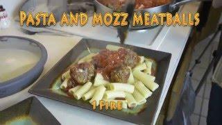 How to make cheesy mozzarella meatballs Pasta