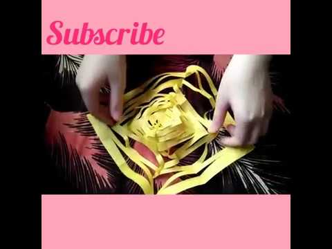 DIY how to make slinky out of paper