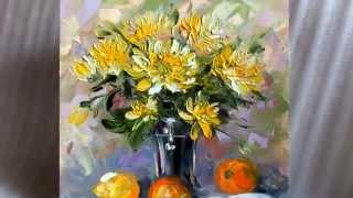 видео Букет из жёлтых хризантем