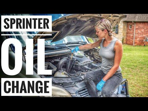 Sprinter Oil Change - YouTube