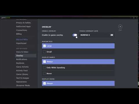 how to disable overlay in discord ?