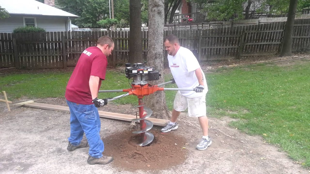 Using a two man Auger