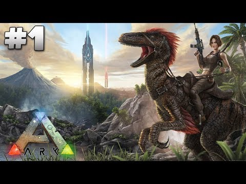 Ark Survival Evolved - Ep1 Tamed A Turtle!!
