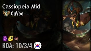 Cassiopeia Mid vs Ryze - CuVee - KR Challenger Patch 6.8