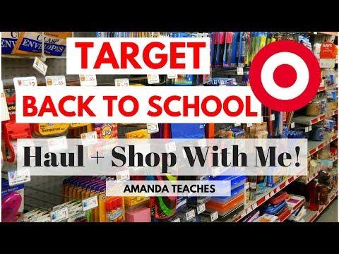 Target Teacher Back to School Haul - Back to School Sale + School Supplies Haul Shop with Me