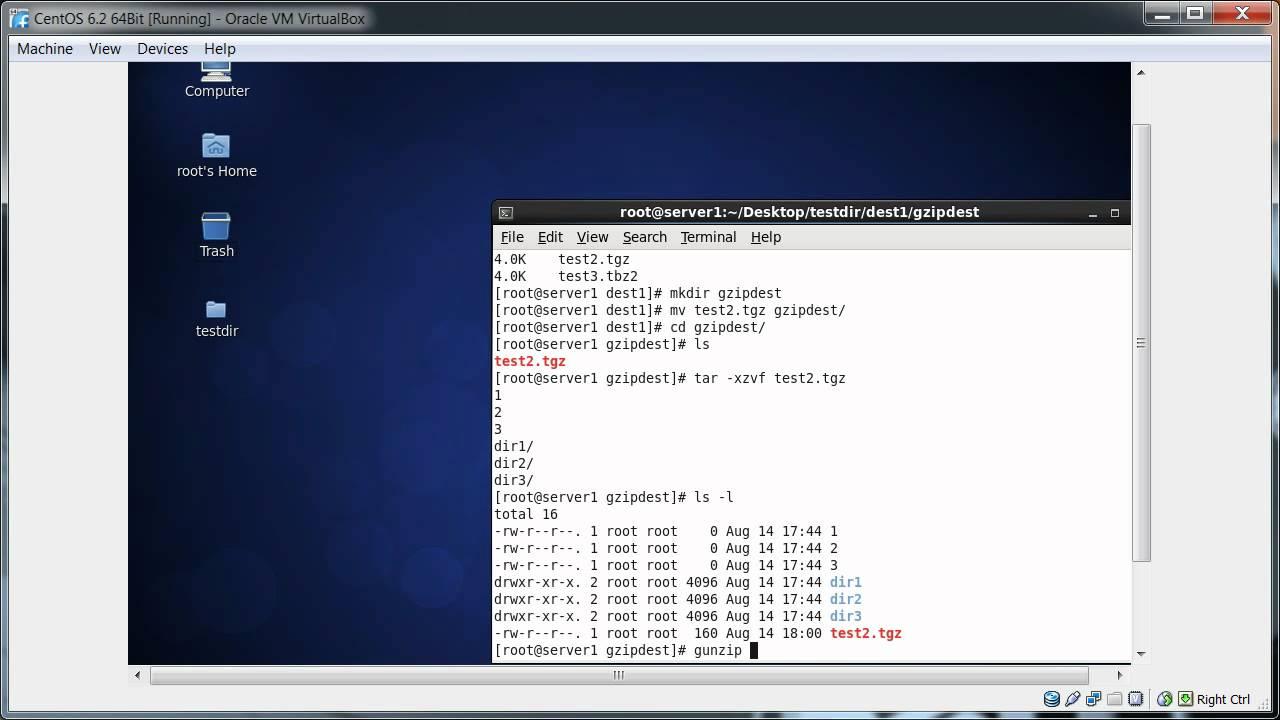 Linux Archive, Backup And Compress Utility (tar, Gzip, Bzip2, 7zip, Zip  etc ) Part - 3