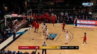 Rutgers, Minnesota Trade Dunks in NYC