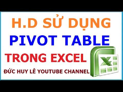 Cách dùng Pivot Table trong Excel để lập báo cáo, thống kê