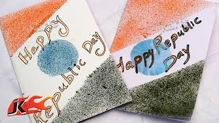 DIY Spray Painting greeting card for Indian Republic day - JK Arts 125