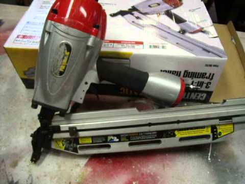 donnie ds central pneumatic 3 in 1 framing nailer