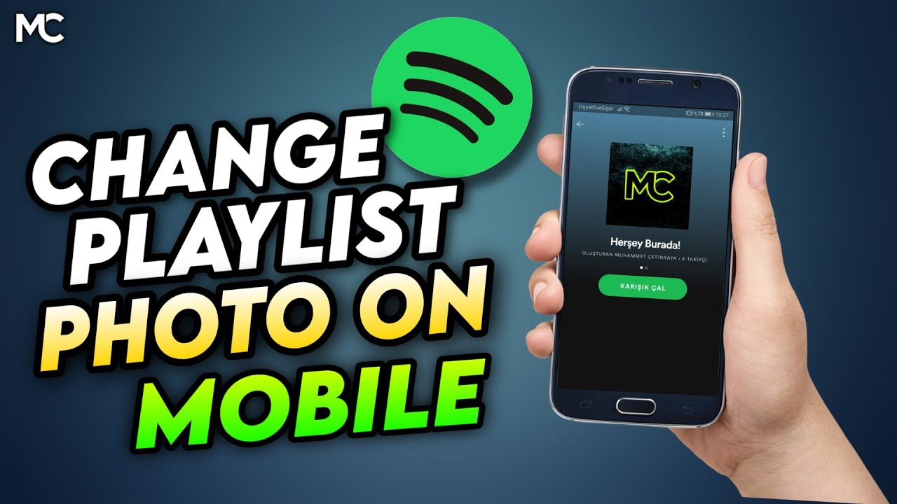 HOW TO CHANGE SPOTİFY PLAYLİST PHOTO ON PHONE - YouTube