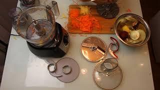 Кухонный комбайн BOSH MCM3501M - Тест тёрок и измельчителя / часть 2