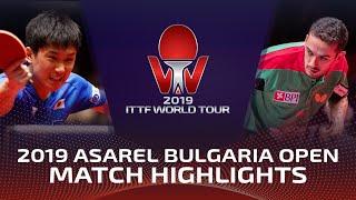 Tomokazu Harimoto vs Marcos Freitas   2019 ITTF Bulgaria Open Highlights (1/2)