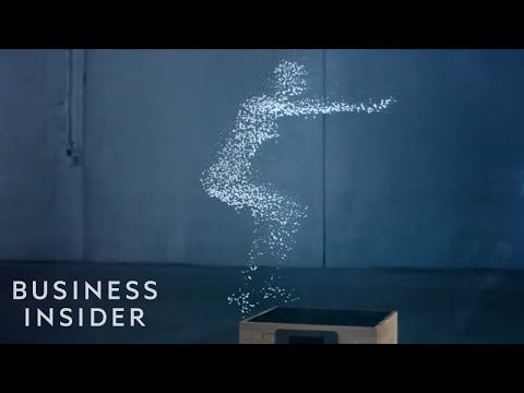 Water droplets create amazing human-like animations in this