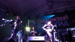Смоленский звездопад 2014, ведущий решил спеть и у него неплохо получилось)
