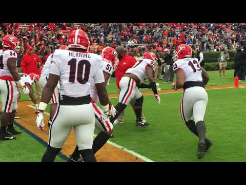 11/11:  Pregame Georgia Defensive Line