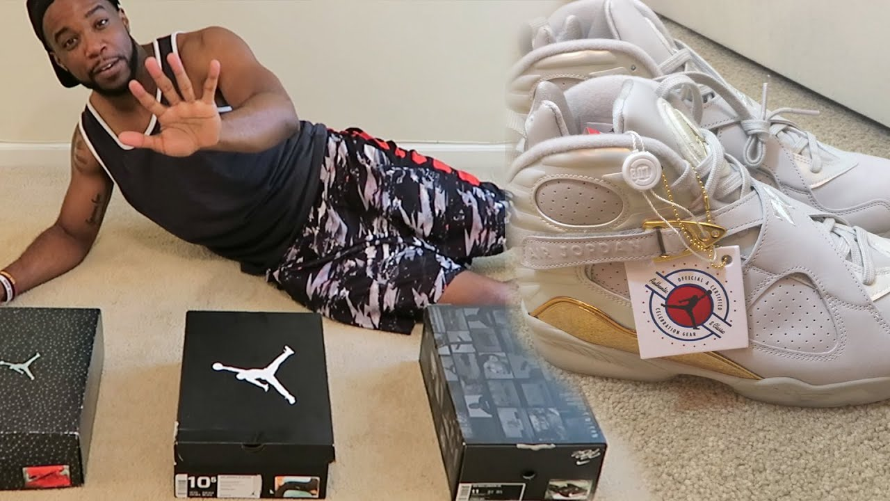 JORDAN 8 CHAMPAGNE! MY TOP 5 SNEAKERS IN MY COLLECTION! - YouTube