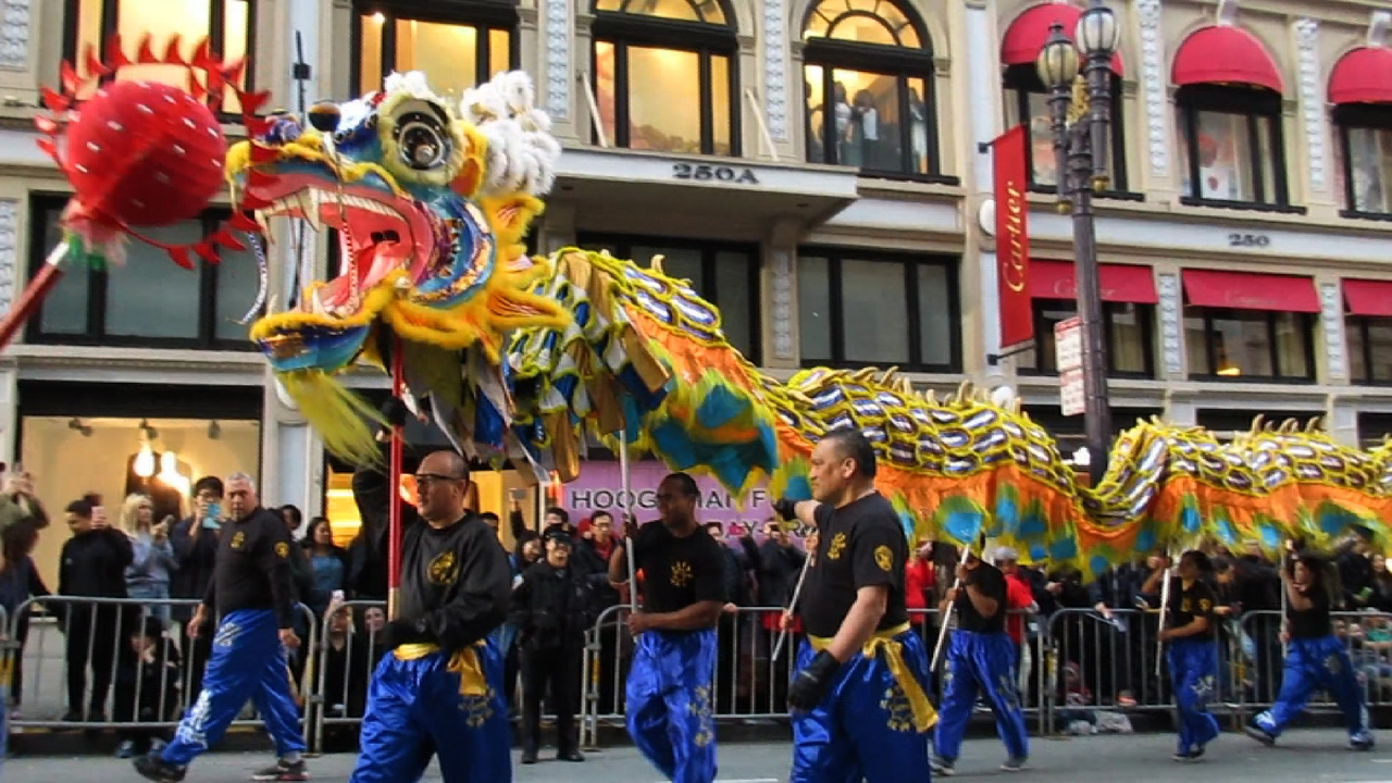 san francisco chinese new year parade 2017 san francisco police department lion dance team - Chinese New Year Sf