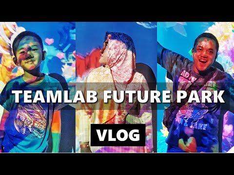 TEAMLAB FUTURE PARK Jakarta! Main-main di Digital Park   Vlog Indonesia   Vlog Keluarga
