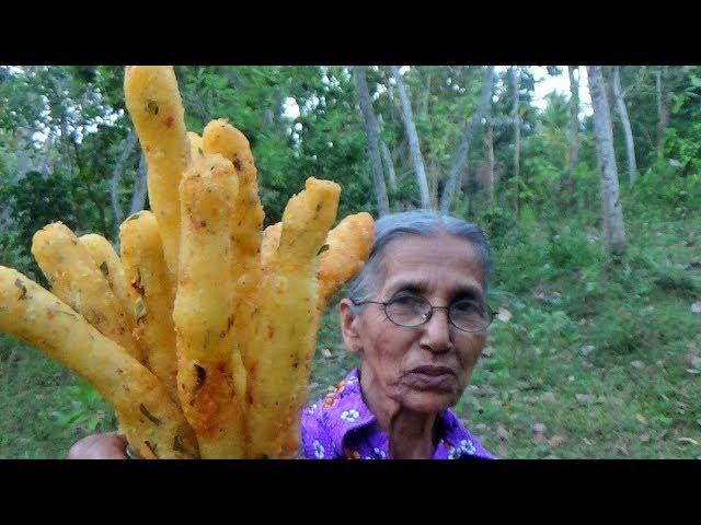 Village Foods ? Crispy Potato Fingers prepared in my Village by Grandma