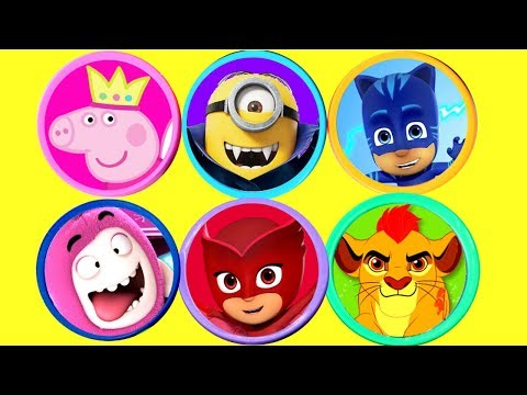Super Play Doh Surprise Peppa Pig PJ Masks Lion Guard Oddbods Minions Kinder Surprise Eggs for Kids