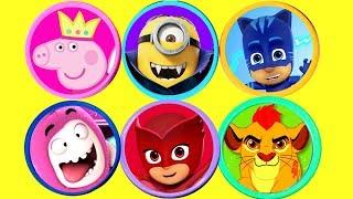 Video Super Play Doh Surprise Peppa Pig PJ Masks Lion Guard Oddbods Minions Kinder Surprise Eggs for Kids download MP3, 3GP, MP4, WEBM, AVI, FLV Maret 2018