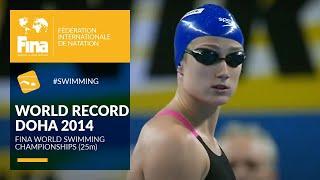 Mireya Belmonte's World Record Moment | Doha 2014 | FINA World Swimming Championships (25m)