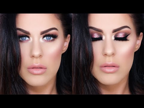 GET READY WITH ME!! | WEARABLE PINK GLOWING MAKEUP!!