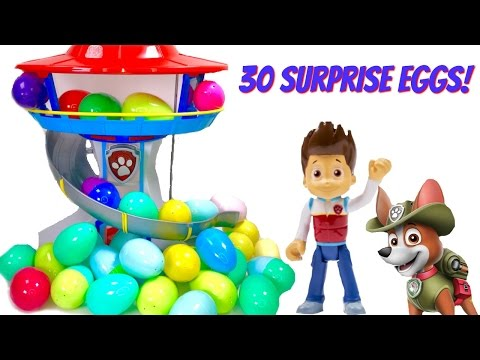 Thumbnail: Best Learning Colors Video for Children - Help Find Paw Patrol Pups in 30 Surprise Eggs