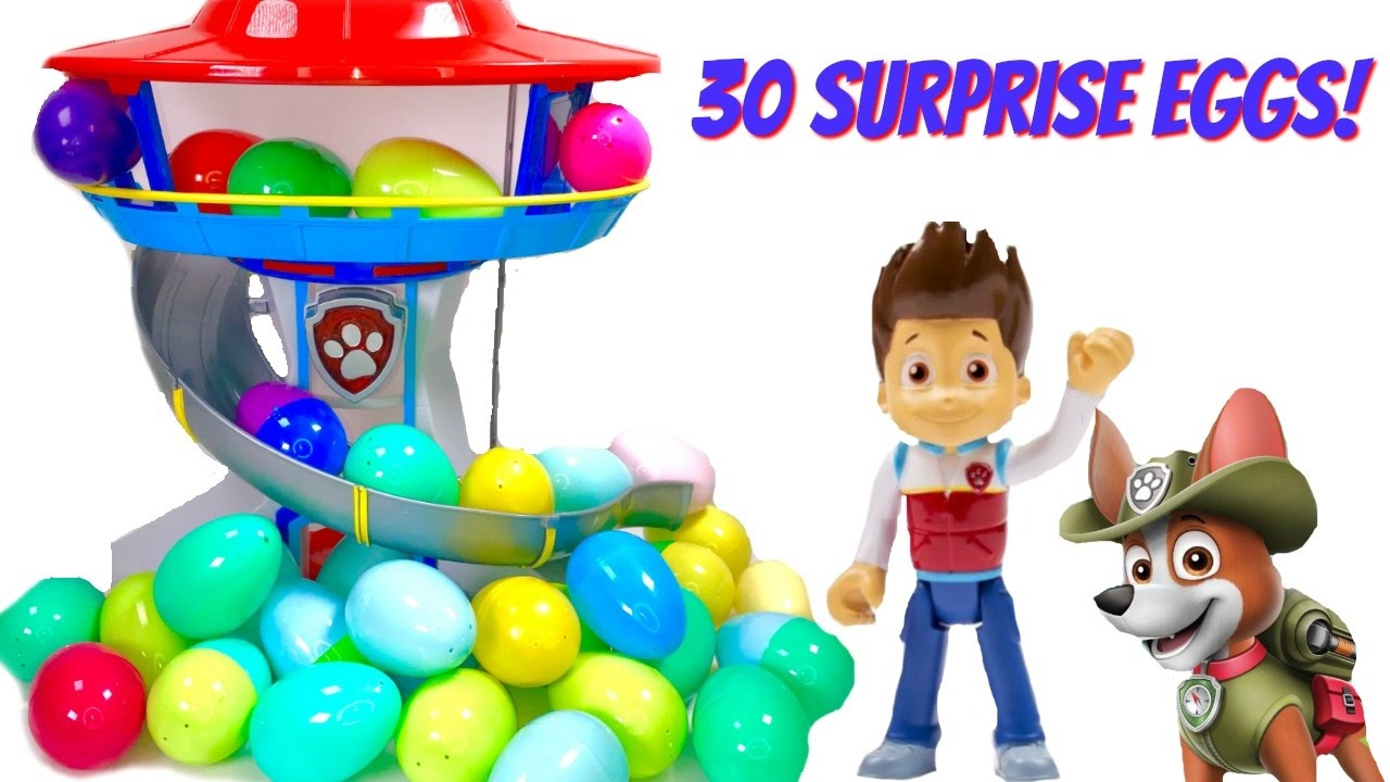Fizzy Fun Toys: Help Find Paw Patrol Pups In 30 Surprise Eggs With Fizzy