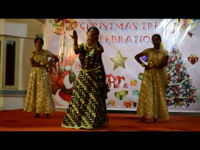 Nativity Church Vidyaranyapura, X'mas 2012, Tamil group girls dance Travel Video