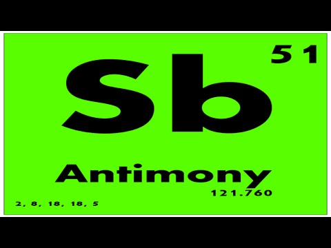 Study guide 51 antimony periodic table of elements youtube study guide 51 antimony periodic table of elements urtaz Images